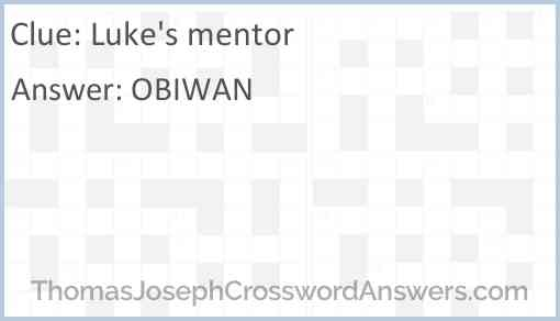 Luke's mentor Answer