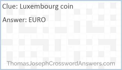 Luxembourg coin Answer