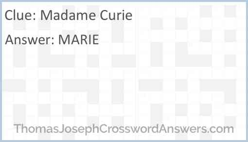 Madame Curie Answer