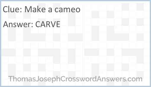Make a cameo Answer