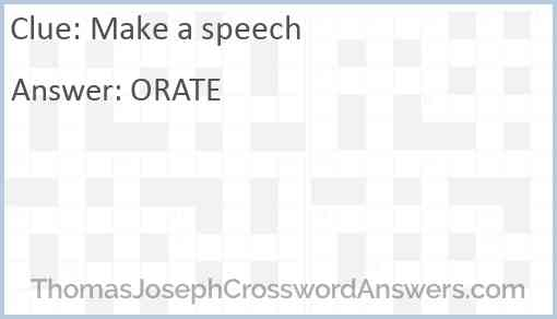 Make a speech Answer
