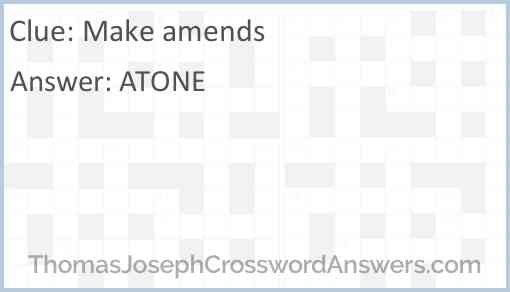 Make amends Answer