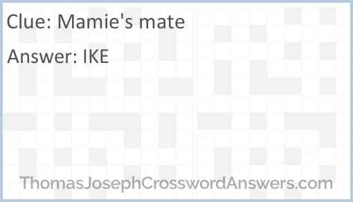 Mamie's mate Answer