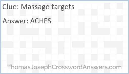 Massage targets Answer