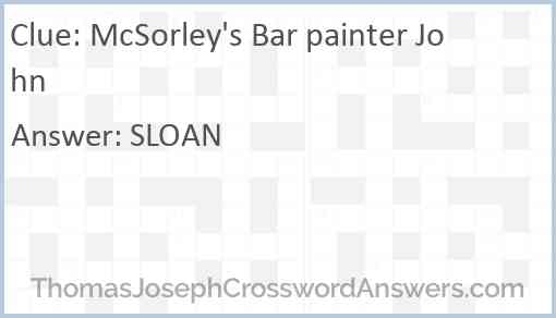 McSorley's Bar painter John Answer