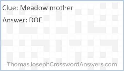 Meadow mother Answer