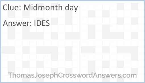 Midmonth day Answer