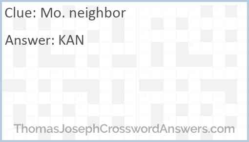 Mo. neighbor Answer