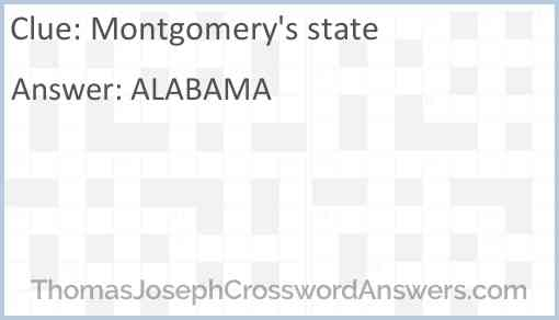 Montgomery's state Answer