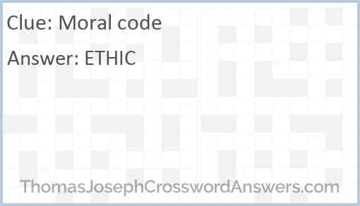 Moral code Answer
