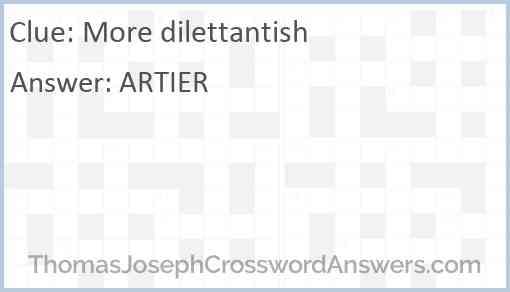 More dilettantish Answer