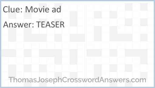 Movie ad Answer