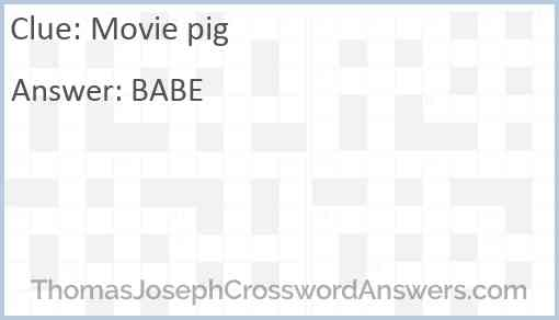 Movie pig Answer