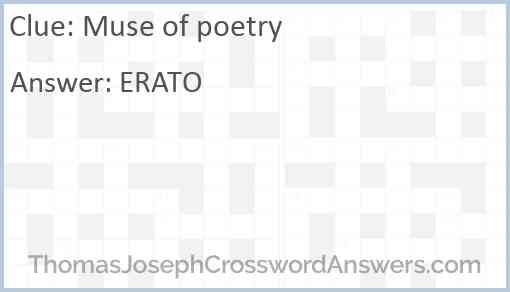 Muse of poetry Answer