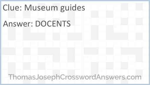 Museum guides Answer