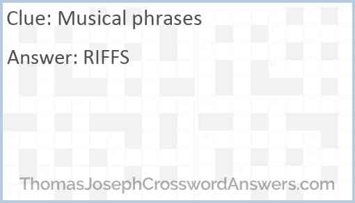 Musical phrases Answer