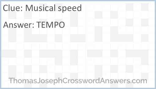 Musical speed Answer