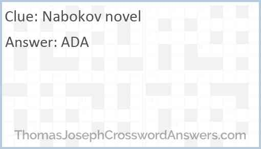 Nabokov novel Answer