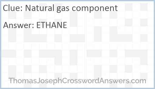 Natural gas component Answer