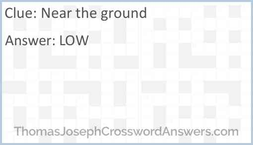 Near the ground Answer