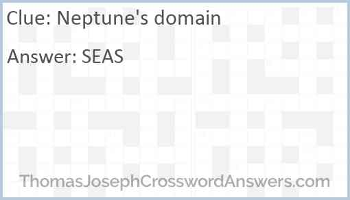 Neptune's domain Answer