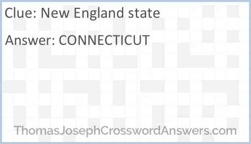 New England state Answer