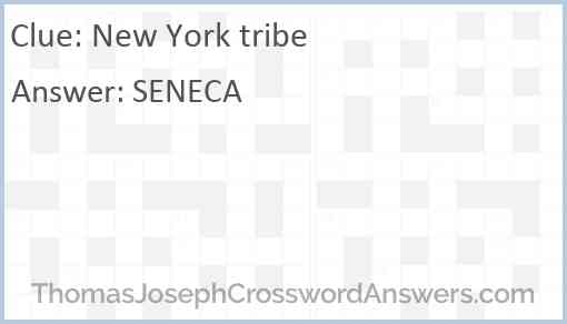 New York tribe Answer