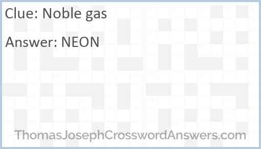 Noble gas Answer