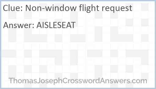 Non-window flight request Answer