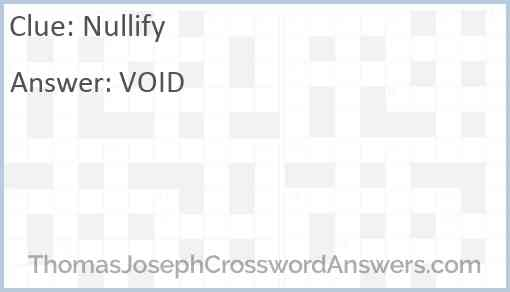 Nullify Answer