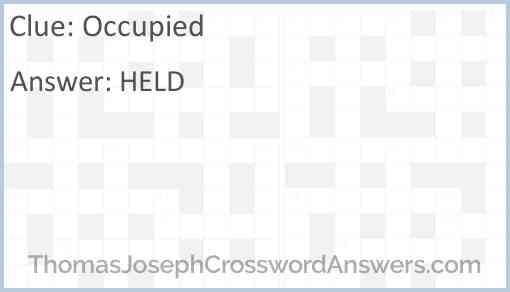 Occupied Answer