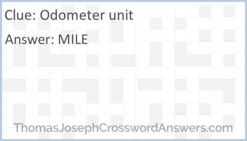 Odometer unit Answer
