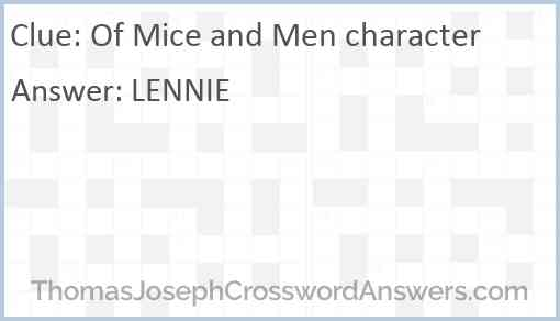Of Mice and Men character Answer