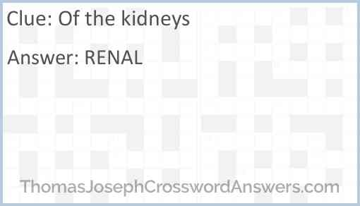 Of the kidneys Answer
