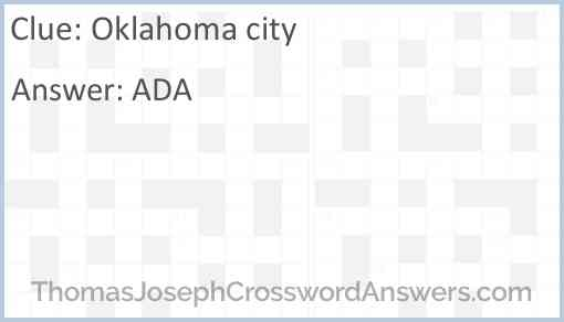Oklahoma city Answer