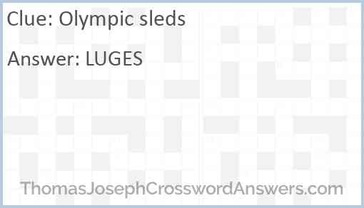Olympic sleds Answer