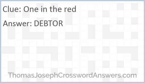One in the red Answer