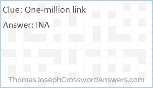One-million link Answer