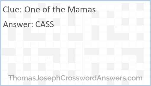 One of the Mamas Answer