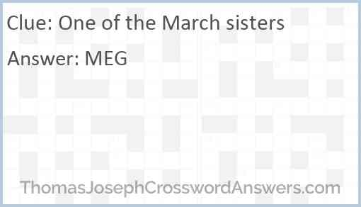 One of the March sisters Answer