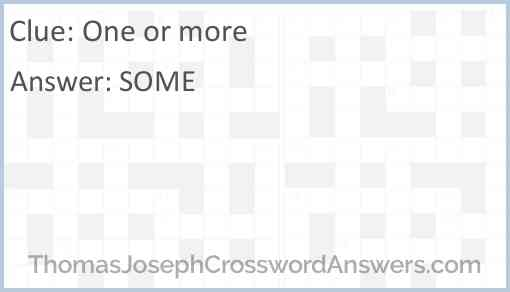 One or more Answer