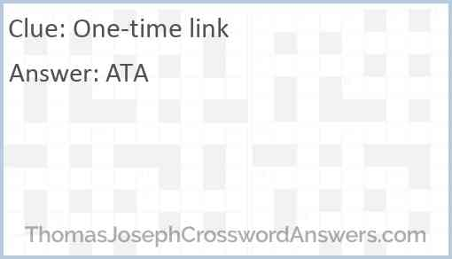 One-time link Answer