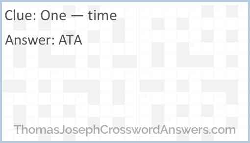 One — time Answer