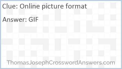 Online picture format Answer