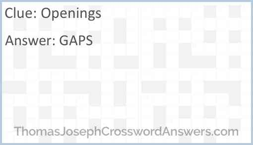 Openings Answer