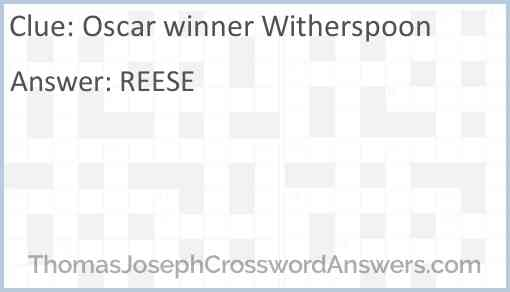 Oscar winner Witherspoon Answer