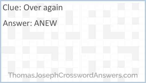 Over again Answer