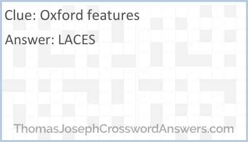 Oxford features Answer