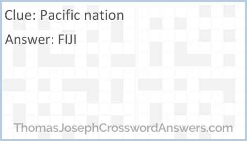 Pacific nation Answer