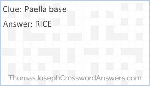 Paella base Answer
